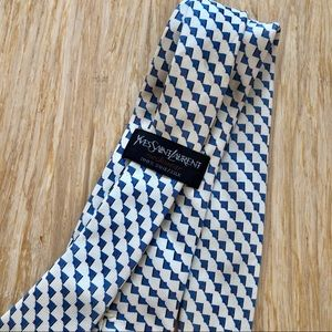 Yves Saint Lauren Vintage White Tie Very Rare